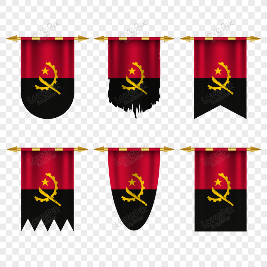angola flag in different shapes png