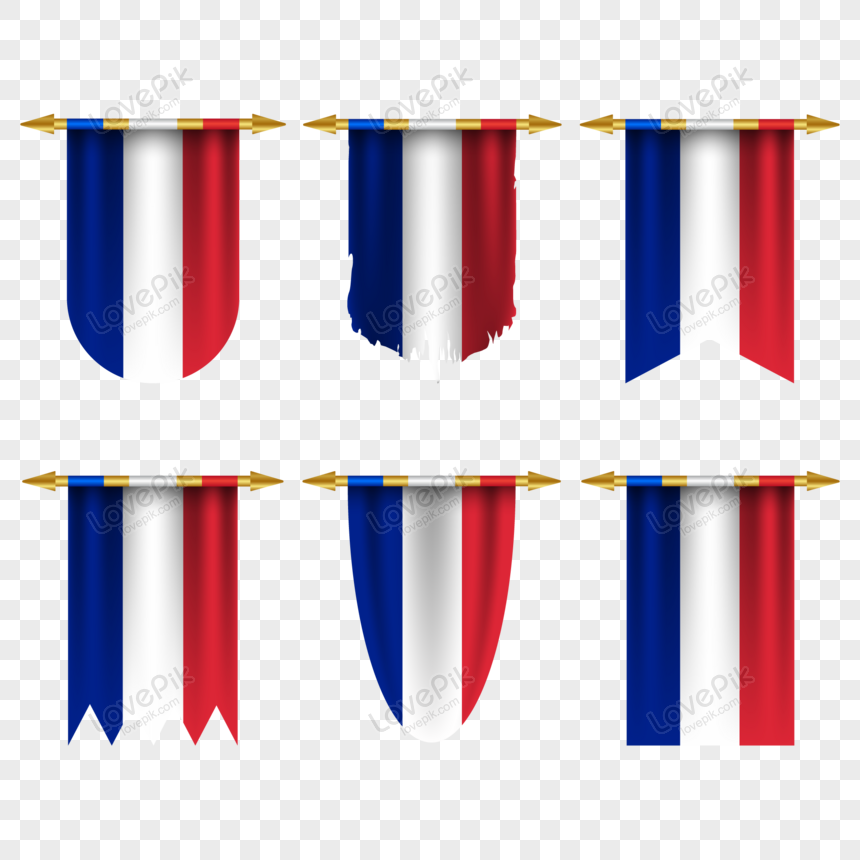 france flag in different shapes png