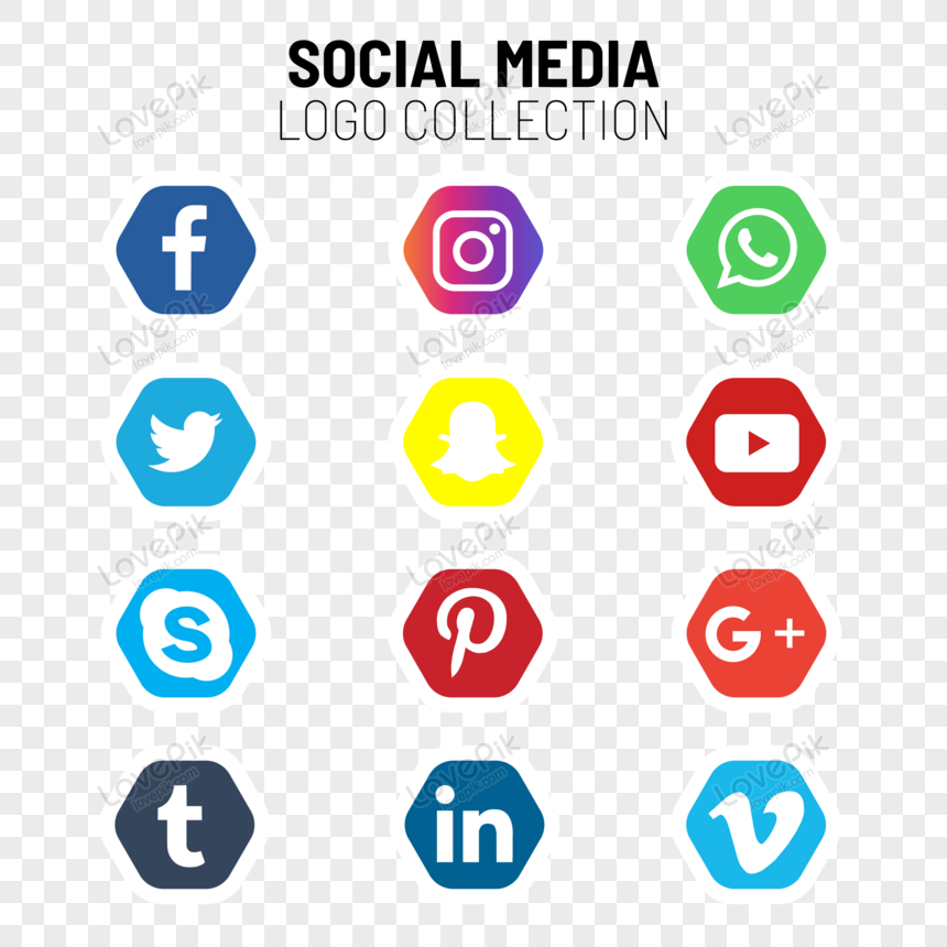 social media logo und icons collection png