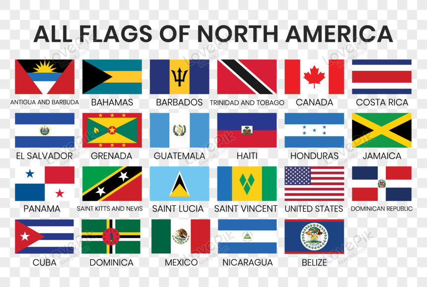 Lovepik صورة Eps 450007903 Id الرسومات بحث صور جميع أعلام دول أمريكا الشمالية