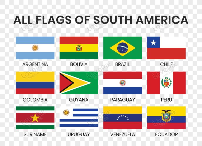 Lovepik صورة Eps 450007904 Id الرسومات بحث صور جميع أعلام دول أمريكا الجنوبية