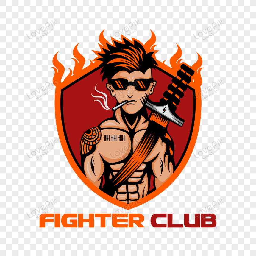 fighter club badge logo vector png