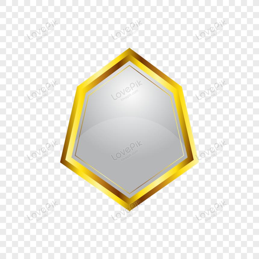 golden empty badge label design png