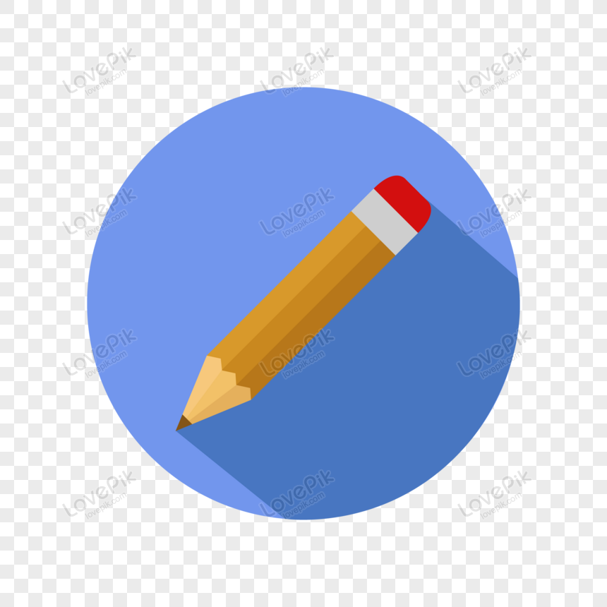pencil icon illustrated in vector png