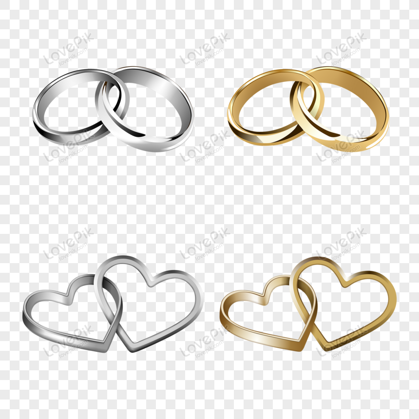 Gold And Silver Wedding Rings Png Image Picture Free Download 450030574 Lovepik Com