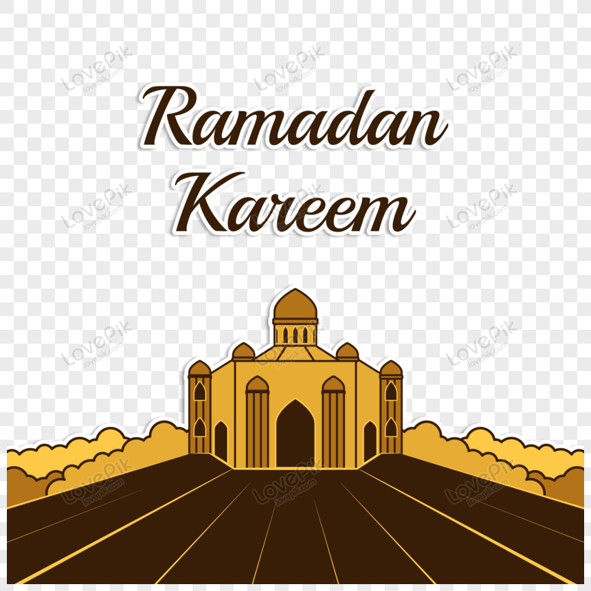 badge symbolic ramadan kareem illustration vector png
