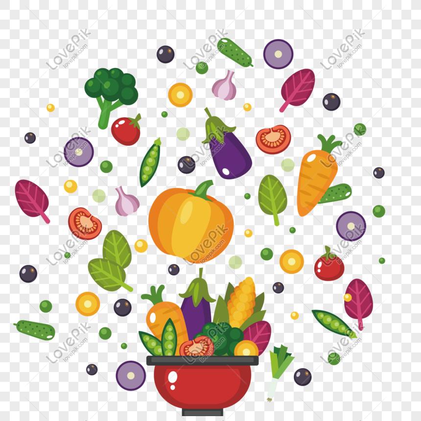 Vektor Makanan Sehat Yang Berbeda Gambar Unduh Gratis Grafik