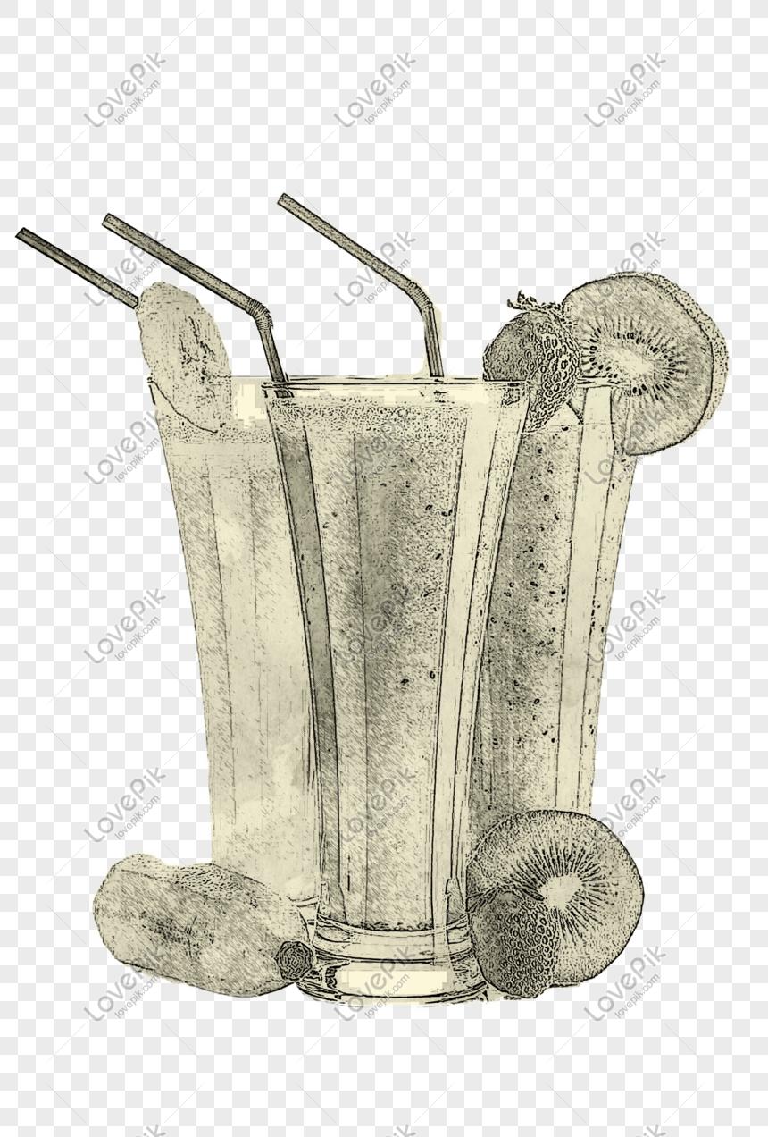 Lakaran Lukisan Talian Lemon Minuman Gambar Unduh