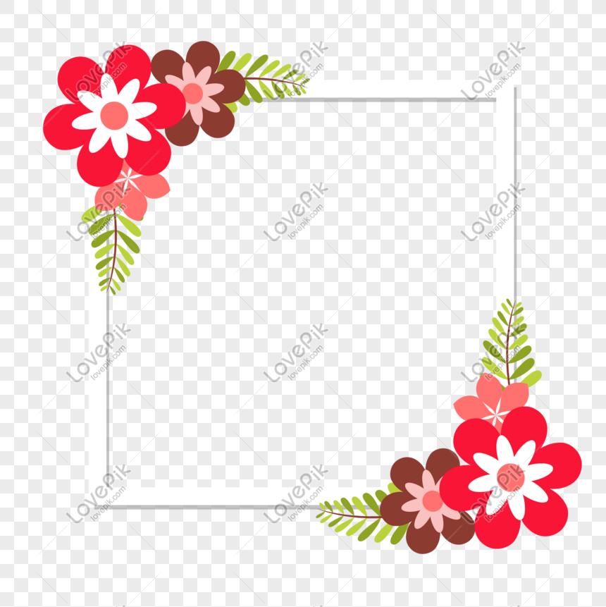 Bingkai Dekoratif Bunga Bunga Png Grafik Gambar Unduh Gratis Lovepik