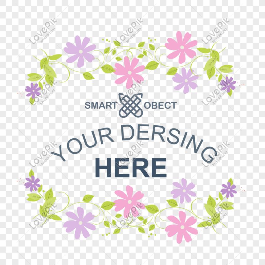 Bingkai Dekoratif Kartu Ucapan Bunga Kecil Png Grafik Gambar Unduh Gratis Lovepik