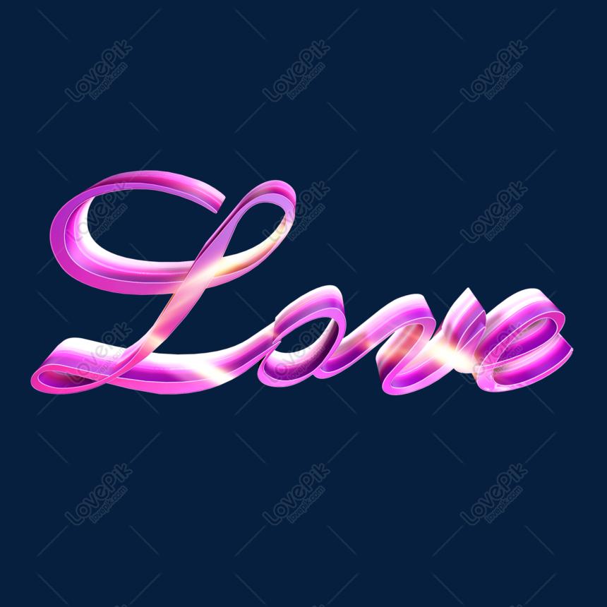 Love Berwarna Warni Perkataan Seni Stereo Gambar Unduh