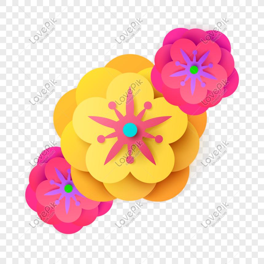 Suasana Bunga Pola Kertas Lentera Tiga Dimensi Yang Sederhana Png Grafik Gambar Unduh Gratis Lovepik