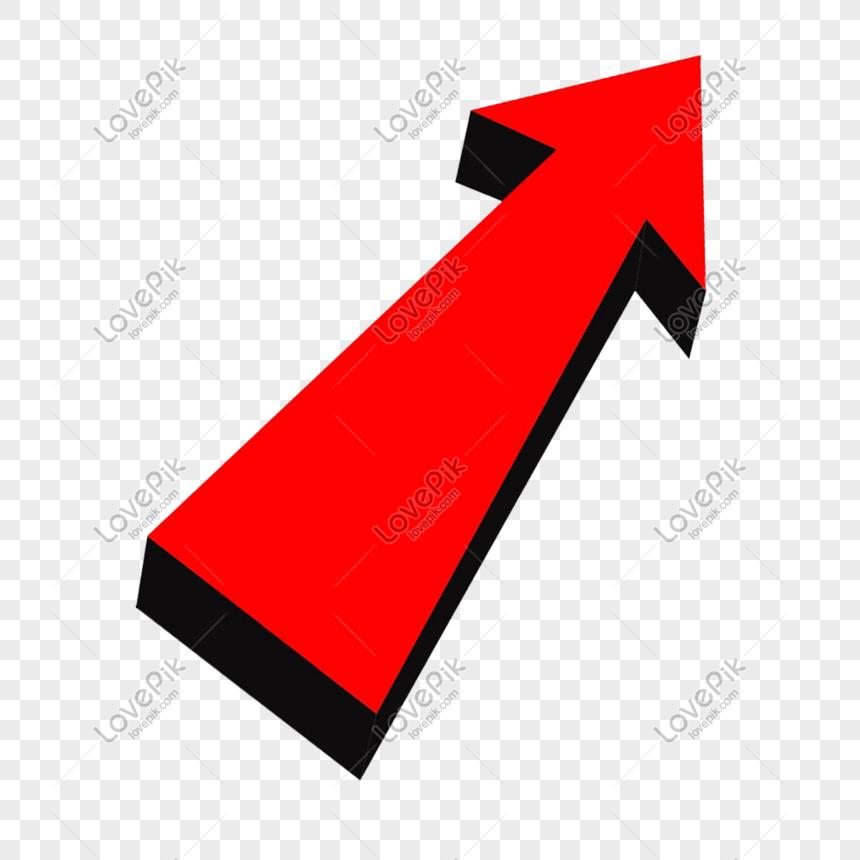 cartoon red arrow rising png png