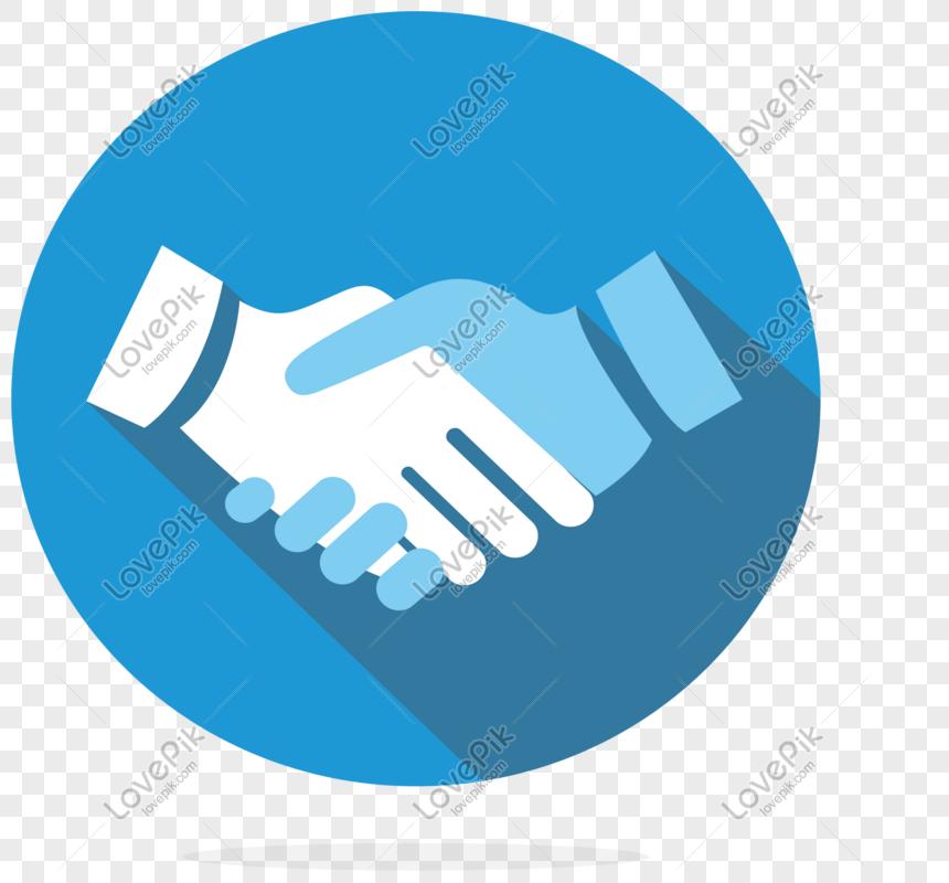 Kerjasama Jabat Tangan Perniagaan Biru Gambar Unduh Gratis Imej