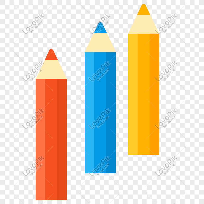 vector illustration of colored pencils png