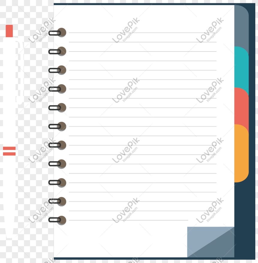 Cartoon Notebook Vector Download Png Image Psd File Free Download Lovepik 611648199