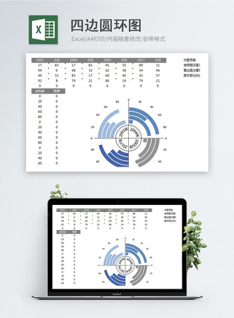 Four Side Ring Diagram Excel Template Mga template