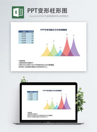 PPT deformasyon sütun şeması Excel şeması Şablonlar