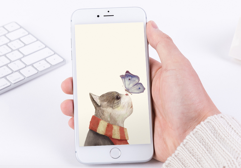 Cat And Butterfly Wallpaper Template Free Download 400180953 Jpg