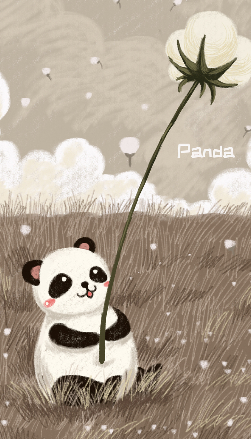 Cute Panda Cell Phone Wallpaper Backgrounds Images Free