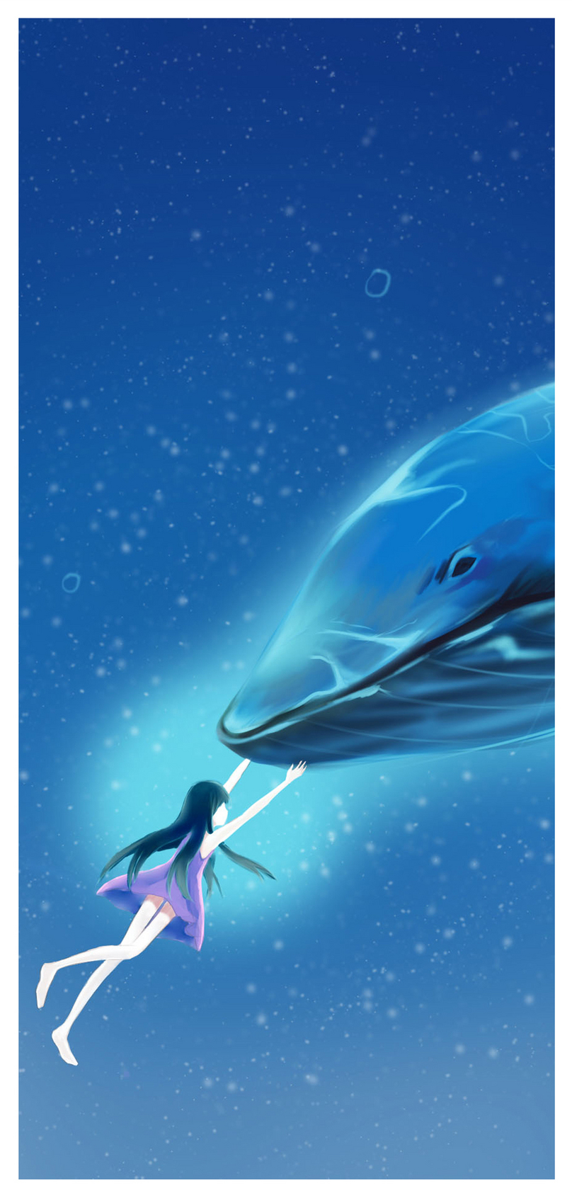 Girl And Whale Cell Phone Wallpaper Backgrounds Images Free