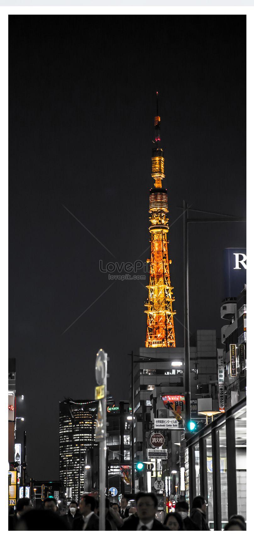 Night Scene Tokyo Mobile Wallpaper