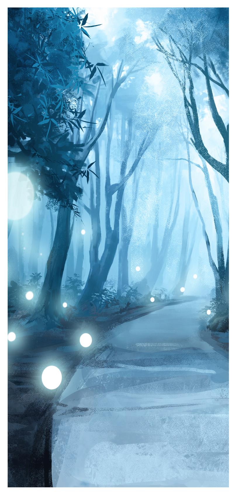 森のホタルの携帯電話の壁紙イメージ 背景 Id 400259602 Prf画像