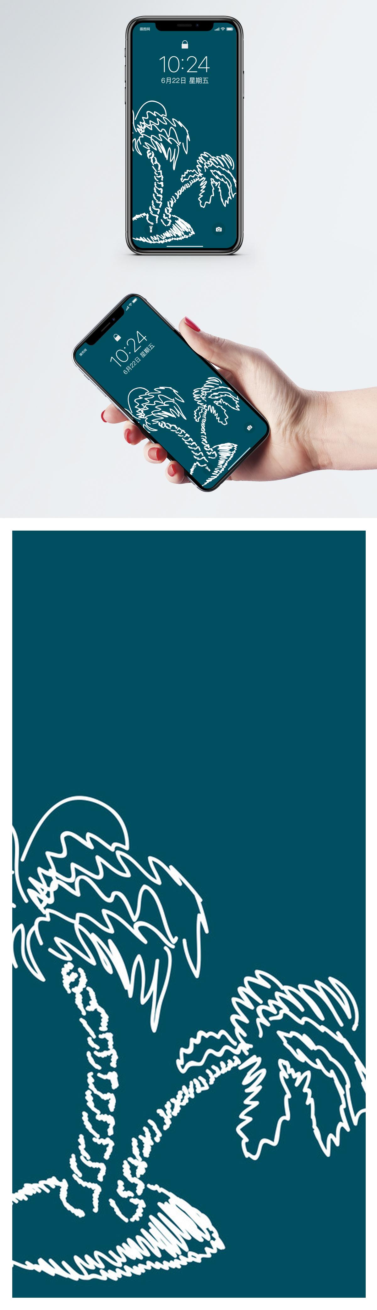 ココナッツツリーの携帯壁紙イメージ 背景 Id Prf画像フォーマットjpg Jp Lovepik Com