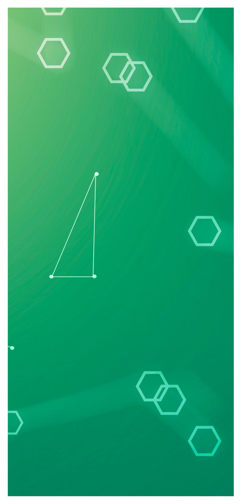 シンプルなグリーンテクノロジーラインの携帯電話の壁紙イメージ 背景