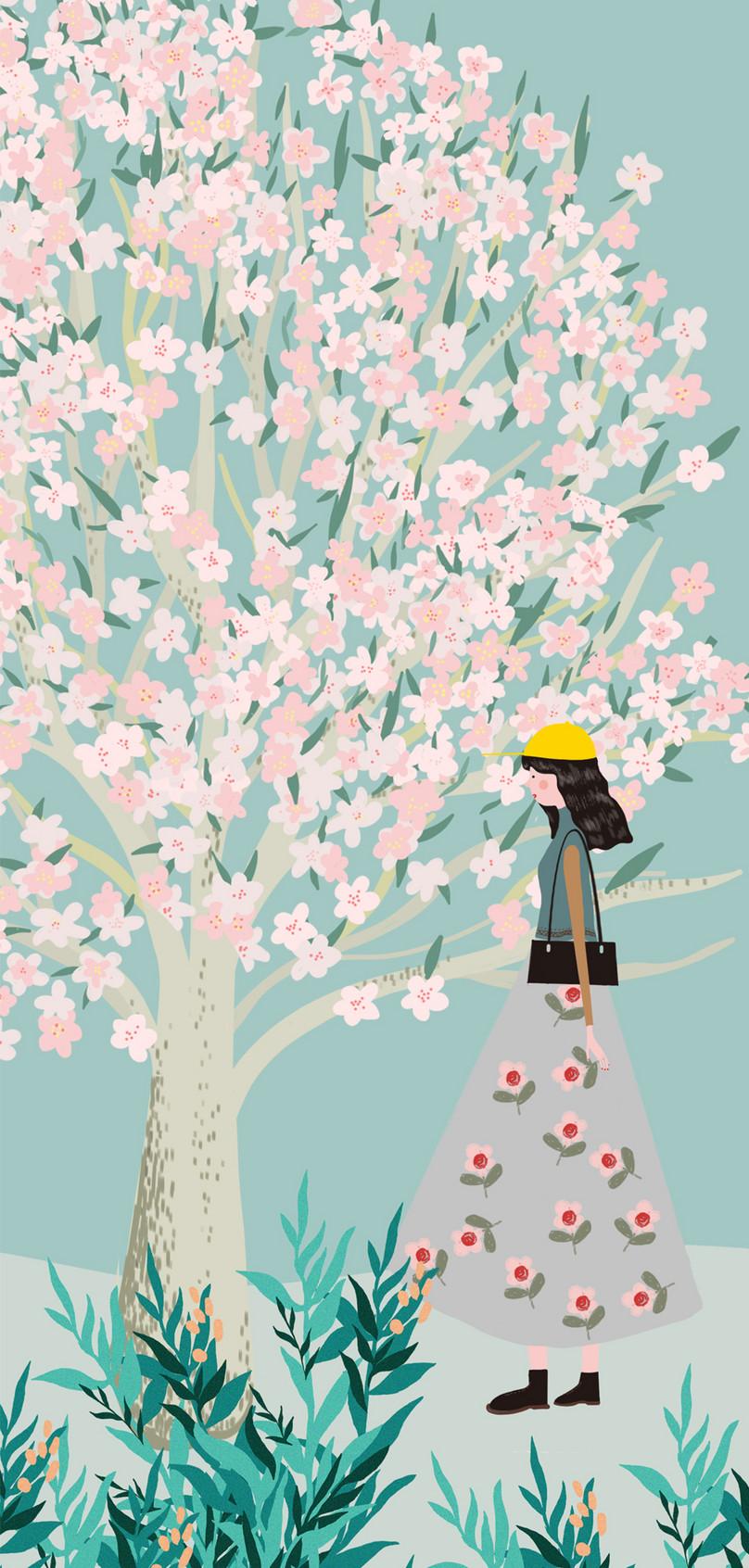 Wallpaper Ponsel Wanita Di Bawah Pohon Gambar Unduh Gratis