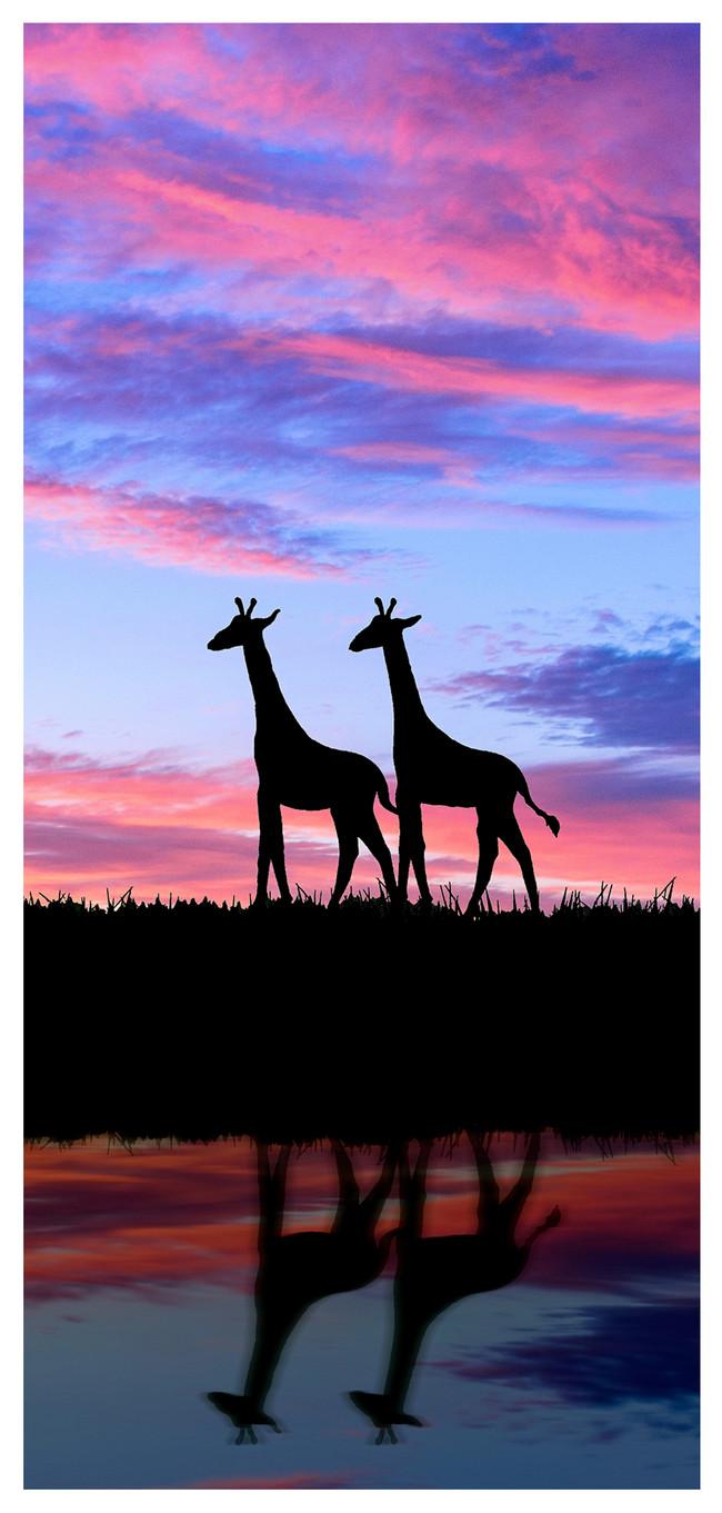 鹿のシルエットの携帯壁紙イメージ 背景 Id Prf画像フォーマットjpg Jp Lovepik Com