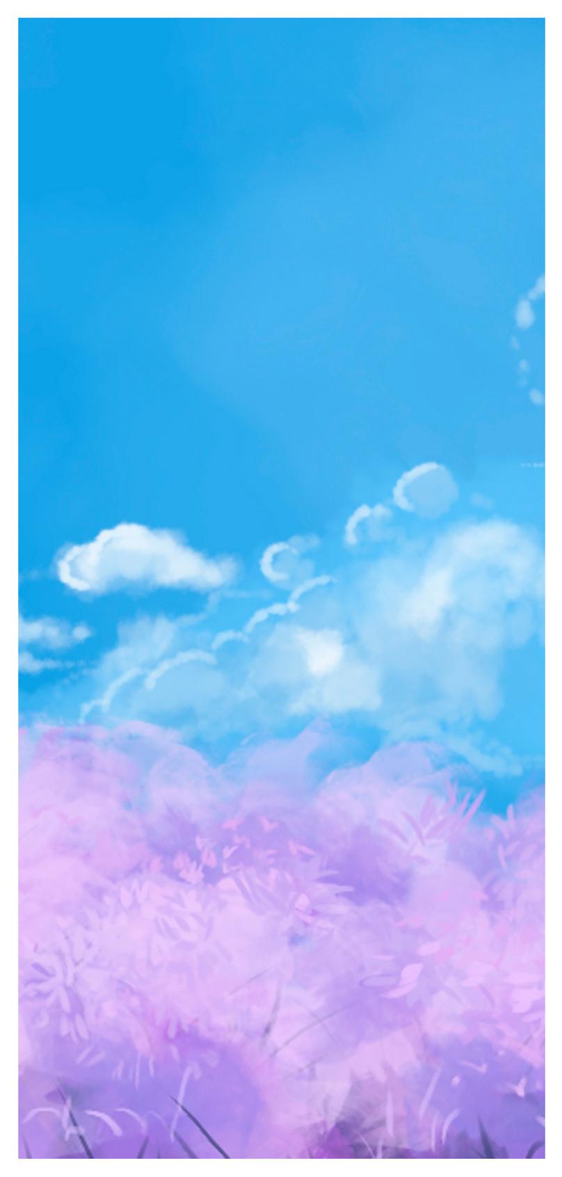 Bunga Laut Awan Kertas Dinding Telefon Bimbit Gambar Unduh