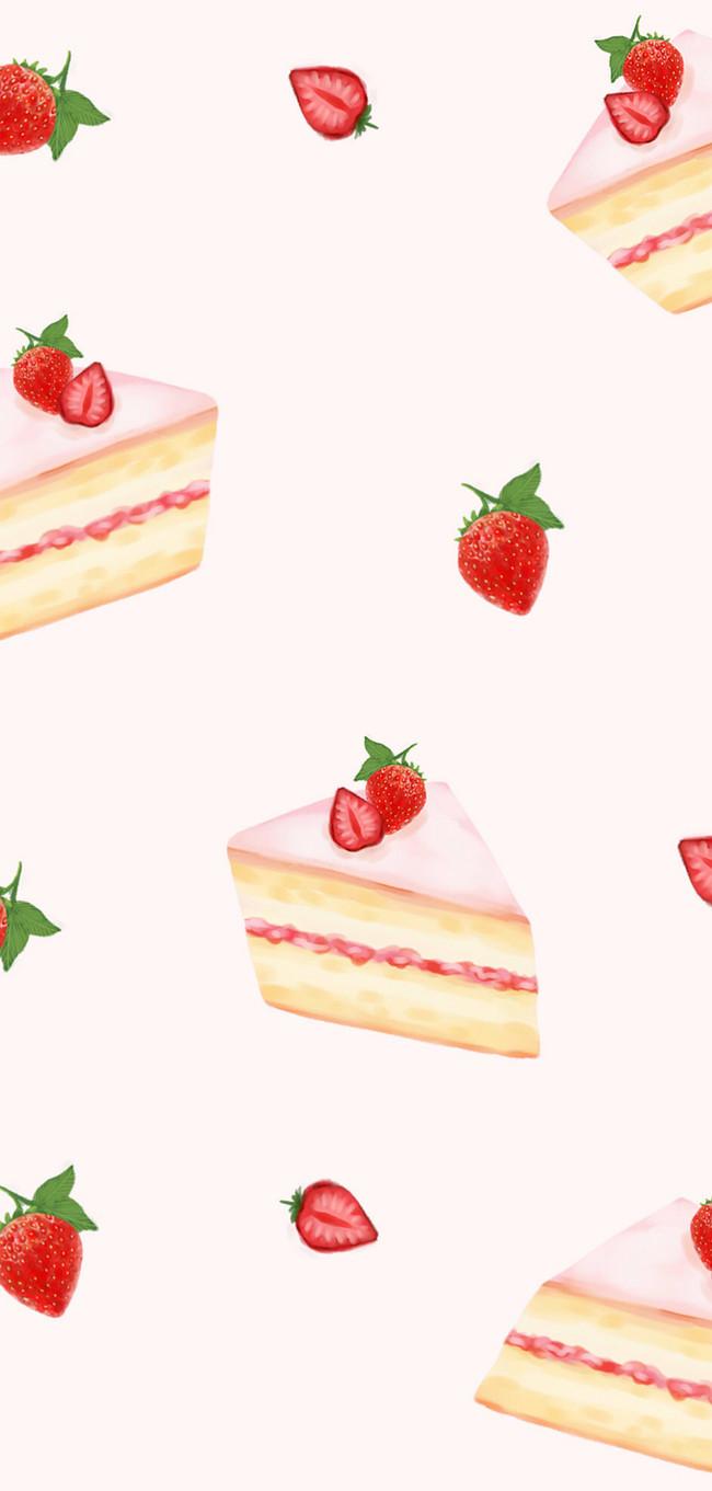 ストロベリーケーキのモバイル壁紙イメージ 背景 Id Prf画像フォーマットjpg Jp Lovepik Com