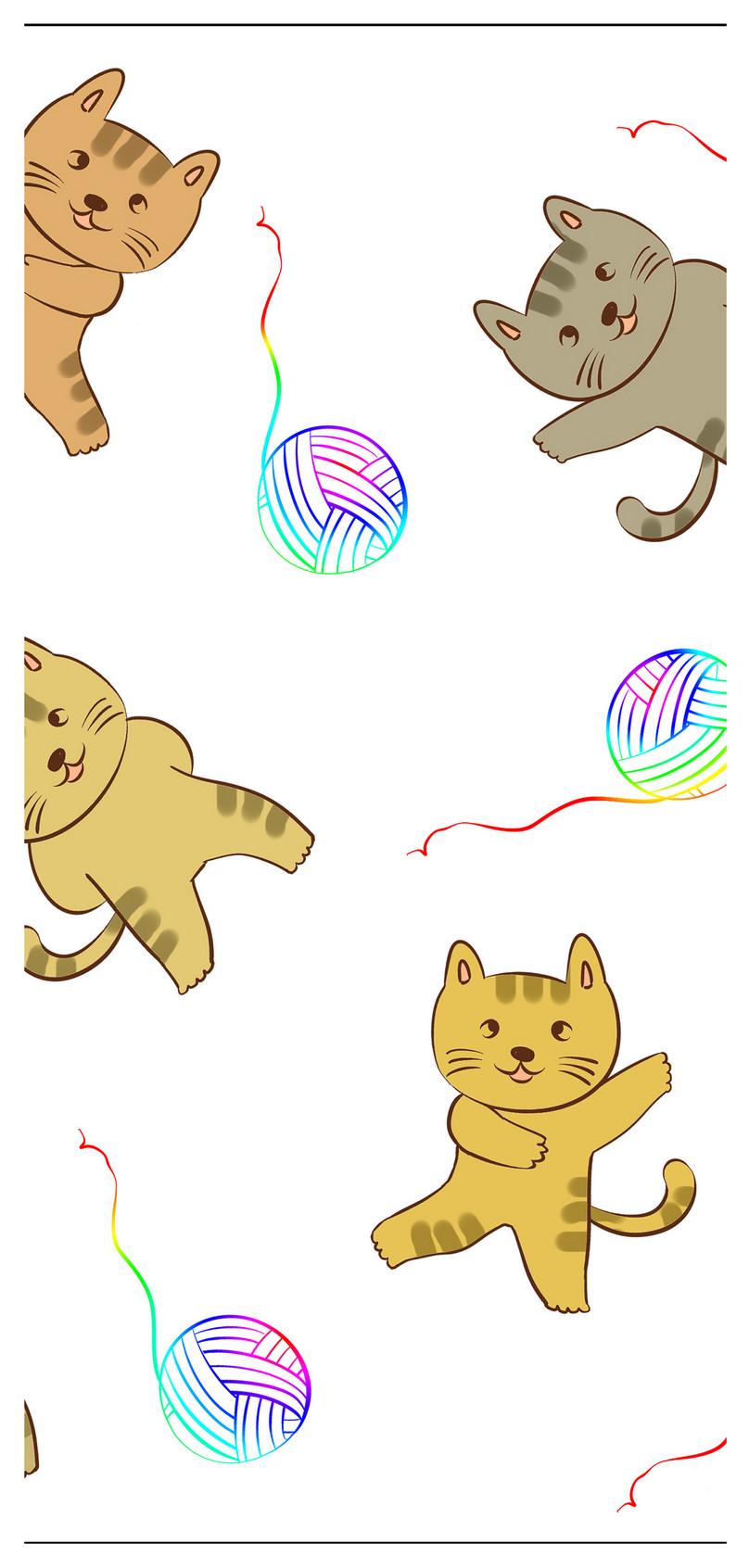 Kartun Kertas Dinding Kucing Kartun Gambar Unduh Gratis Imej
