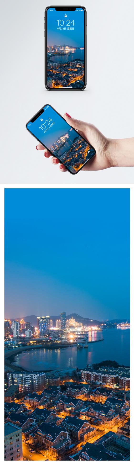 wallpaper ponsel pemandangan malam kota gambar unduh gratis_