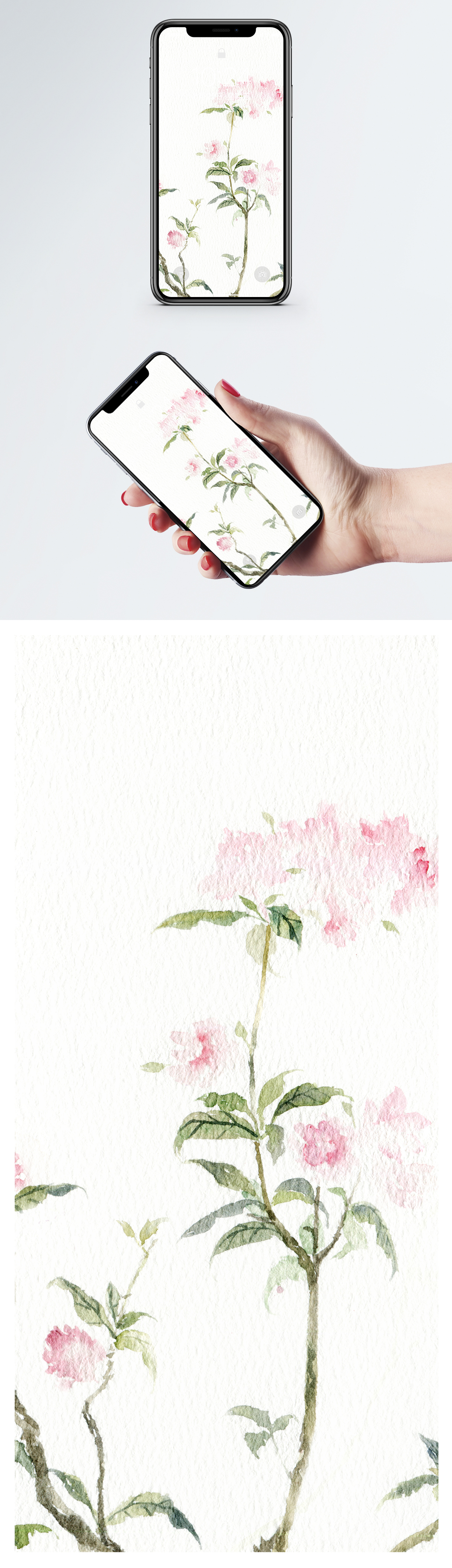 Watercolor Magpie Mobile Wallpaper Backgrounds Image Picture Free