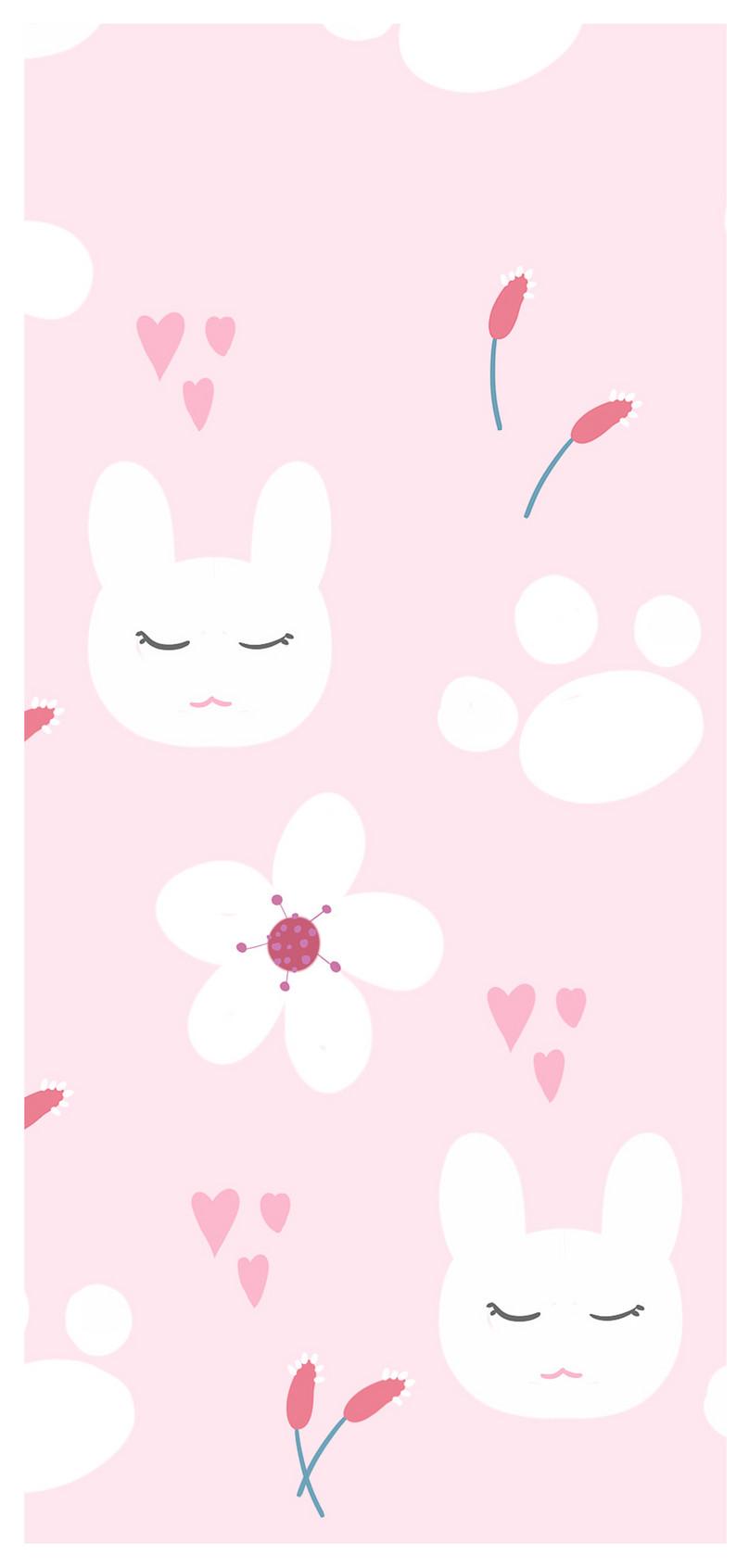 Kartun Bunny Kertas Dinding Mudah Alih Gambar Unduh