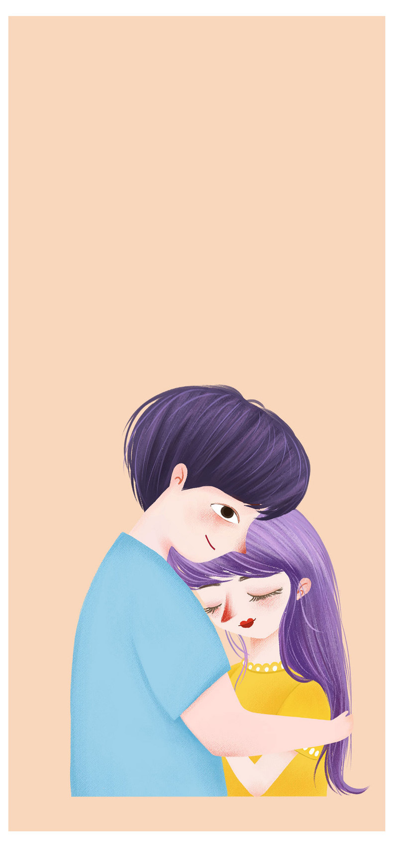 Couple Cartoon Mobile Phone Wallpaper Backgrounds Images