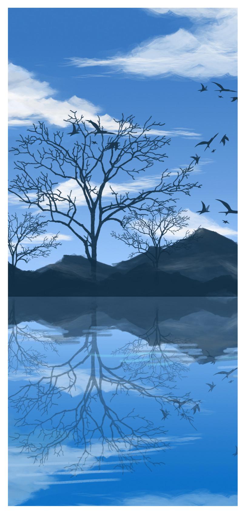 イラスト秋の風景の携帯電話の壁紙イメージ 背景 Id 400414966 Prf画像