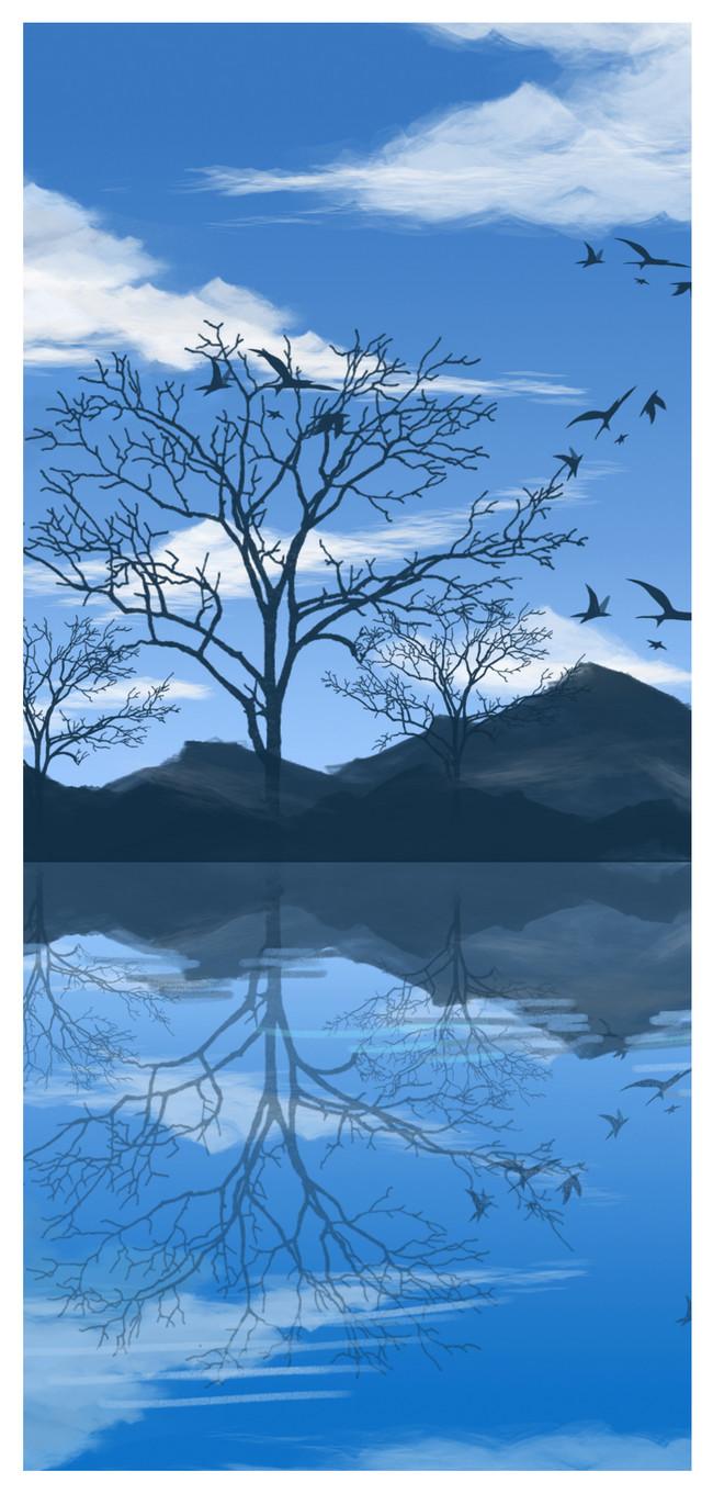 イラスト秋の風景の携帯電話の壁紙イメージ 背景 Id Prf画像フォーマットjpg Jp Lovepik Com
