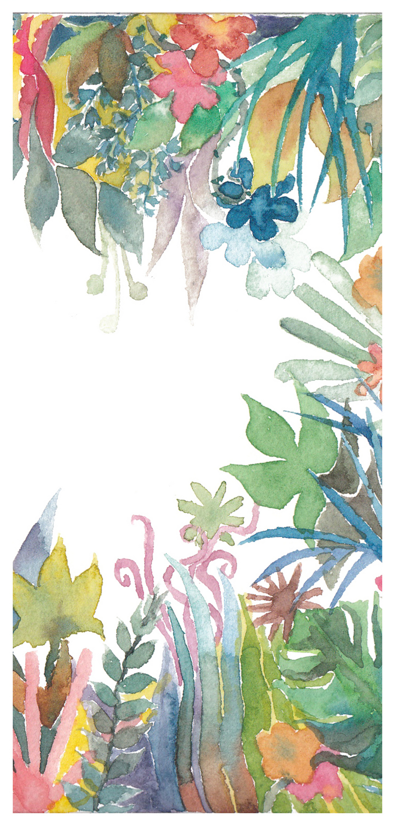 Watercolor Plant Cell Phone Wallpaper Backgrounds Image Picture