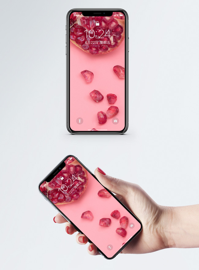 pink pomegranate cell phone wallpaper