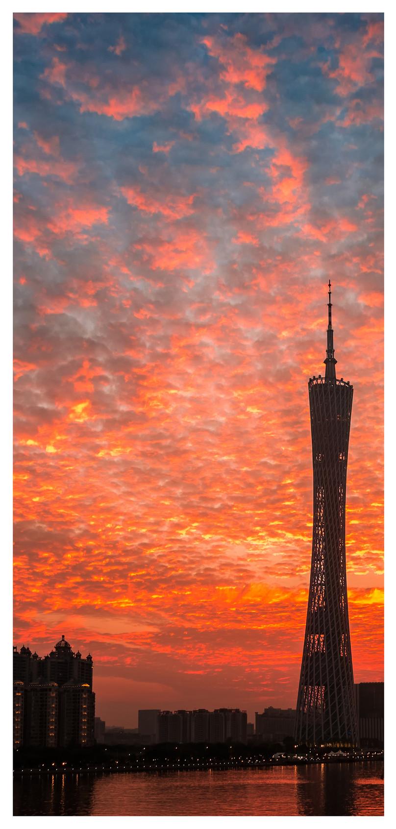 Wallpaper Menara Gerbang Guangzhou Gambar Unduh Gratis Imej
