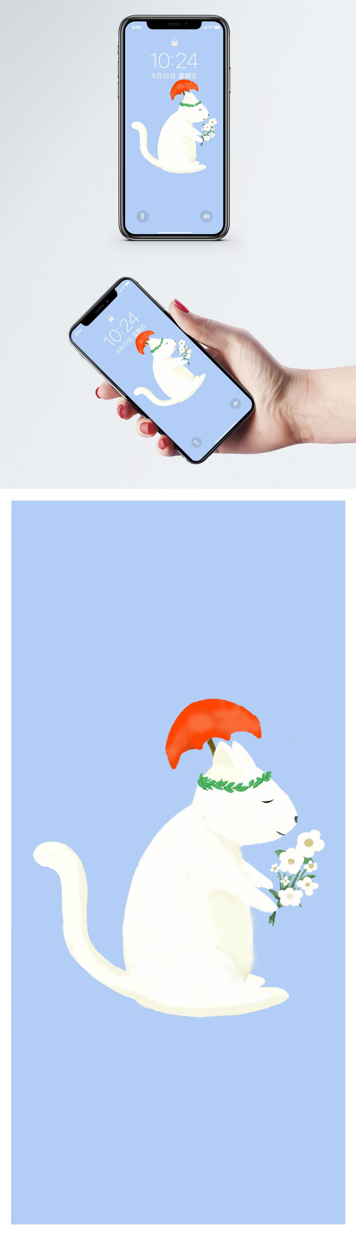 Cartoon Cat Mobile Wallpaper Backgrounds Images Free Download 400387012 Lovepik Com