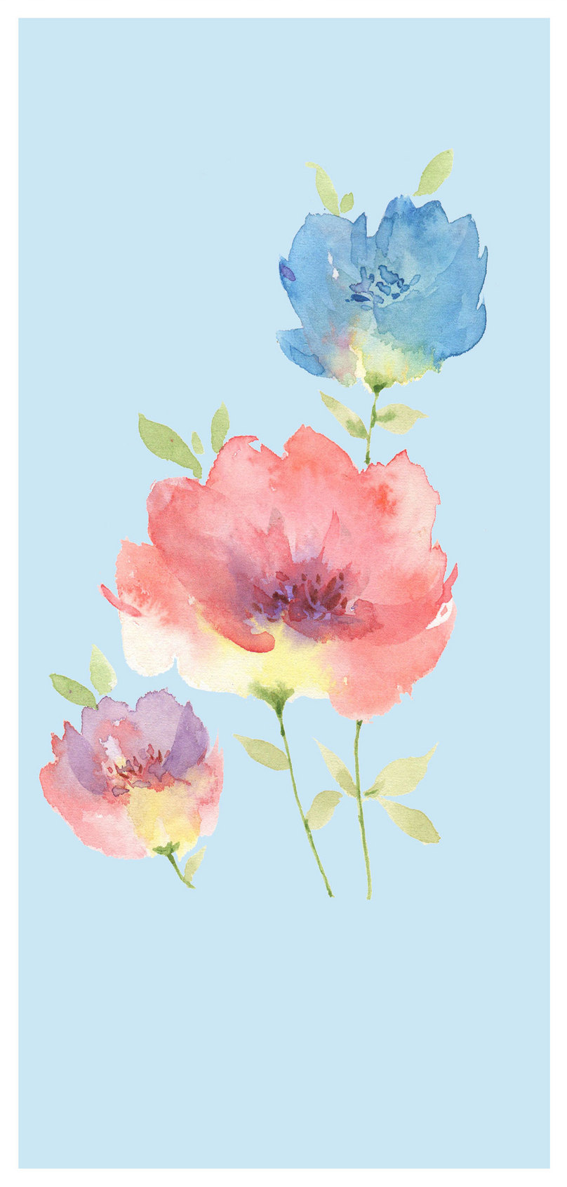 Watercolor Flower Cell Phone Wallpaper Backgrounds Image Picture
