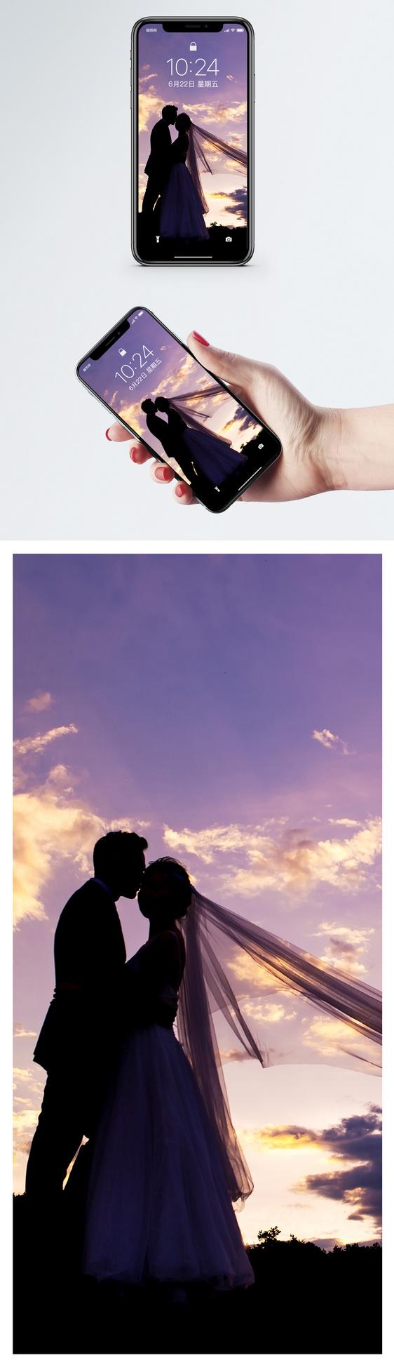 Wedding photo mobile wallpaper