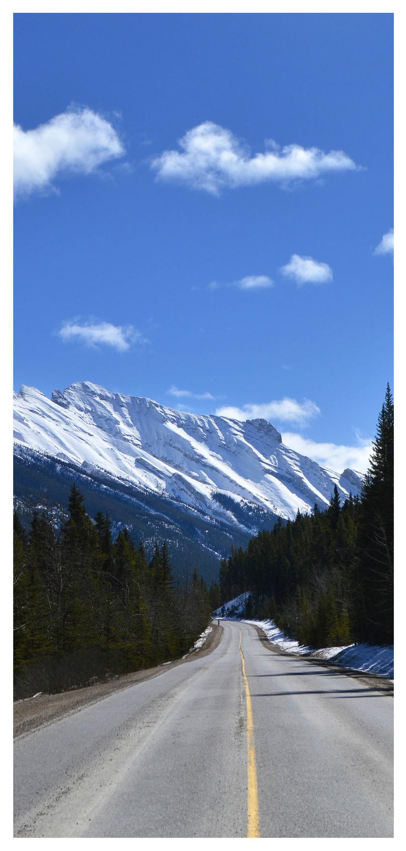 Sfondo Di Banff Park Snow View Per Cellulare Immagine Gratissfondi