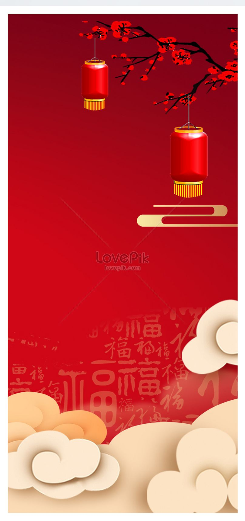 red happy new year background mobile wallpaper