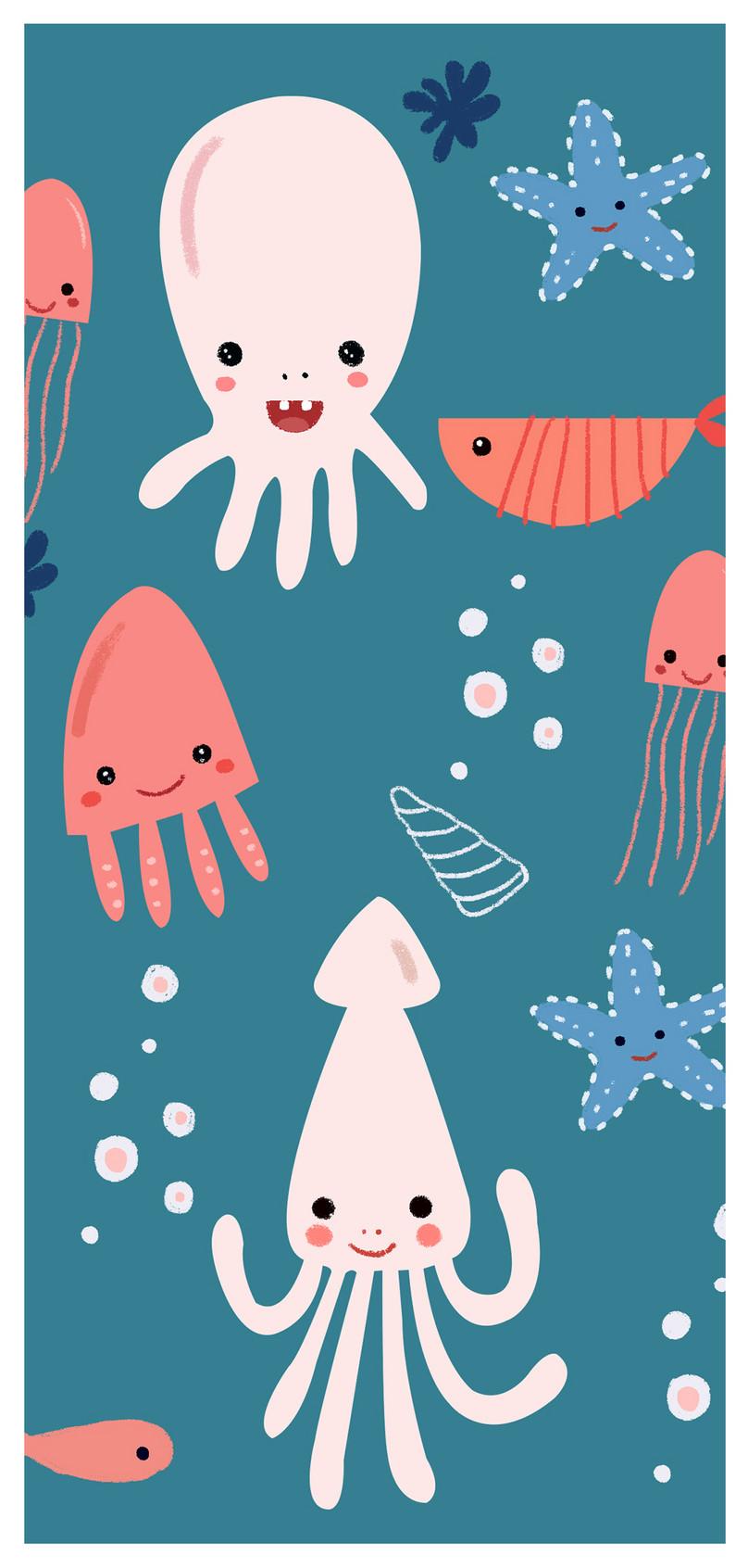 Wallpaper Bergerak Kartun Kehidupan Laut Gambar Unduh