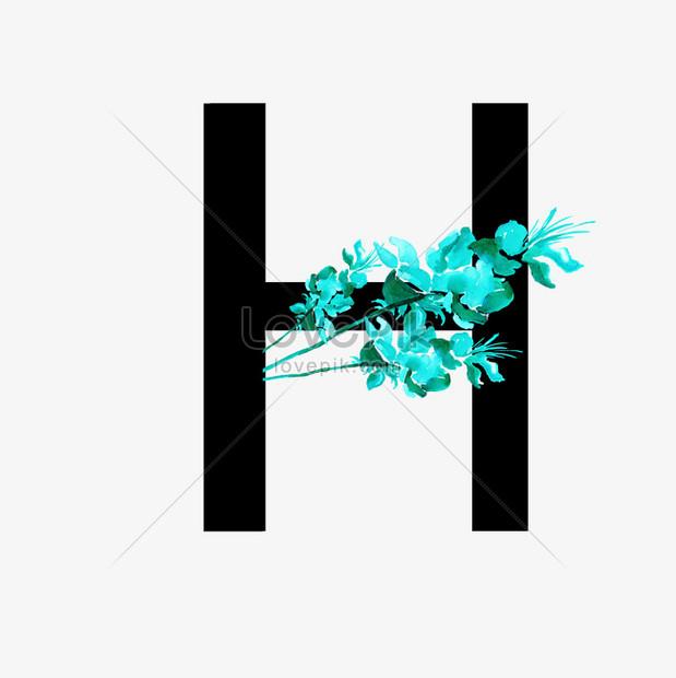 Verbazingwekkend Sans serif letter h chinese style flower decoration graphics DV-09